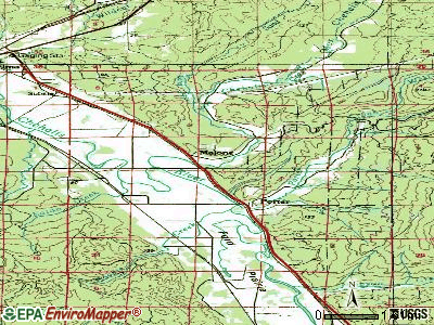 Malone-Porter topographic map