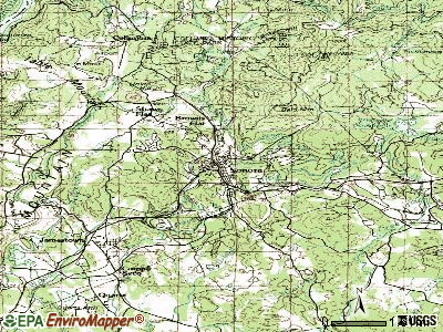 Sonora topographic map