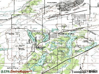 Medical Lake topographic map