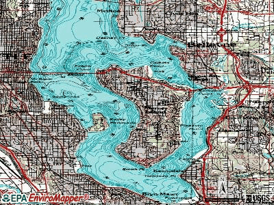 Mercer Island topographic map