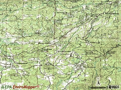Soulsbyville topographic map