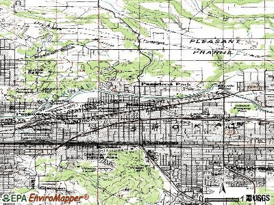 Millwood topographic map