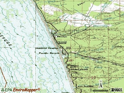 Moclips topographic map