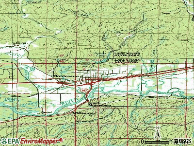 Montesano topographic map