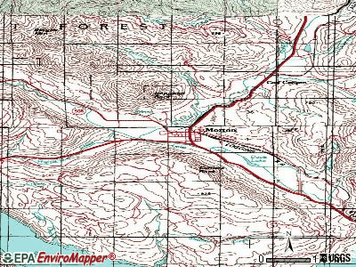 Morton topographic map