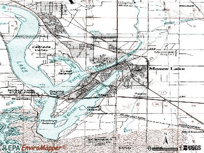 Moses Lake topographic map