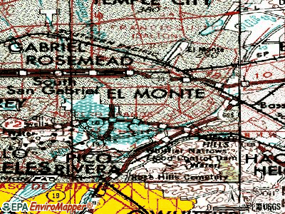 South El Monte topographic map
