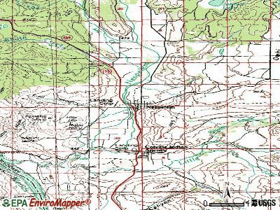Nespelem topographic map