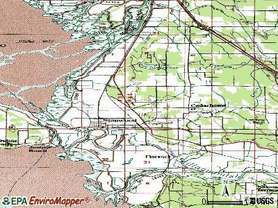 North Stanwood topographic map