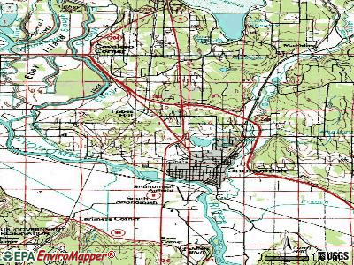 Northwest Snohomish topographic map