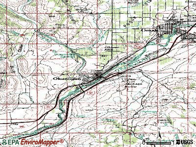 Okanogan topographic map