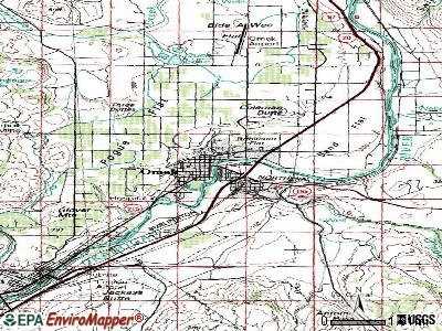 Omak topographic map