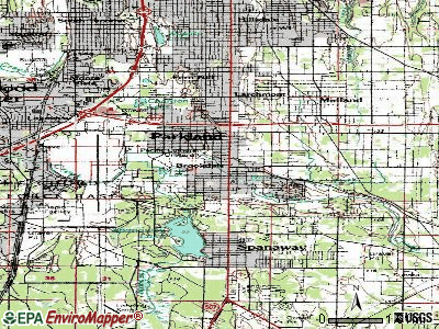 Parkland topographic map