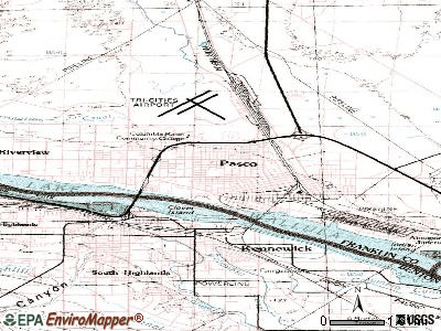 Pasco topographic map