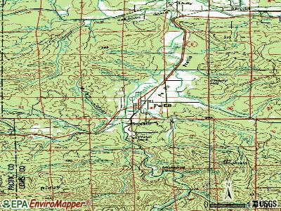 Peaceful Valley topographic map