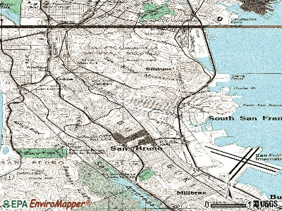 South San Francisco topographic map
