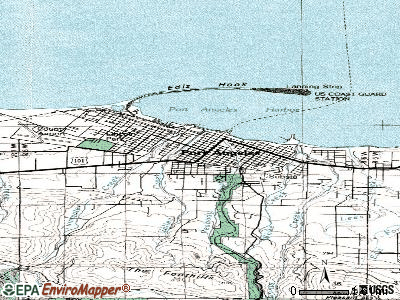 Port Angeles topographic map