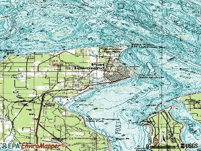 Port Townsend topographic map