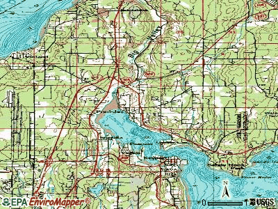 Poulsbo topographic map