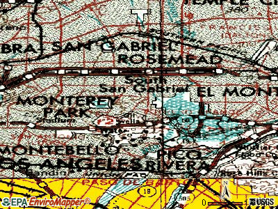 South San Gabriel topographic map