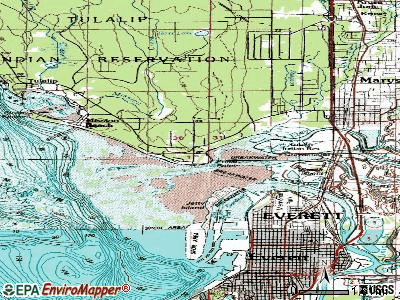 Priest Point topographic map