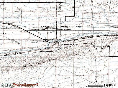 Prosser topographic map
