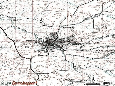 Pullman topographic map