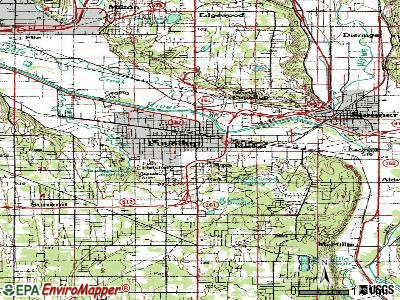 Puyallup topographic map