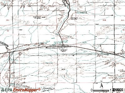 Reardan topographic map