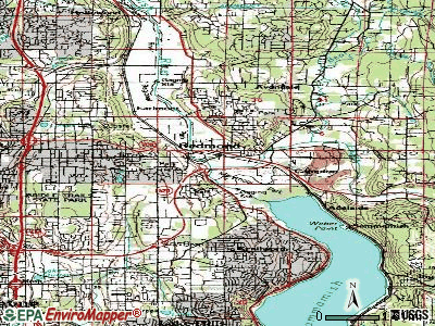Redmond topographic map