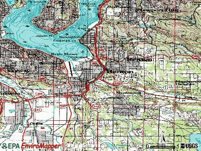 Renton topographic map