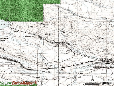 Roslyn topographic map