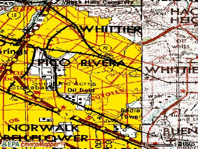 South Whittier topographic map