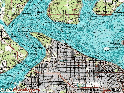Ruston topographic map