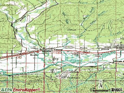 Satsop topographic map
