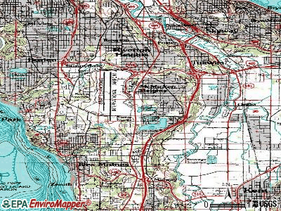 SeaTac topographic map