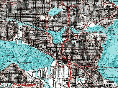 Seattle topographic map