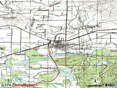 Sedro-Woolley topographic map