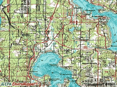Silverdale topographic map