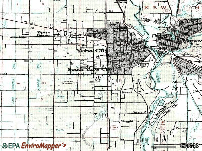 South Yuba City topographic map
