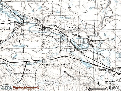 Snoqualmie topographic map