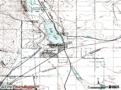 Soap Lake topographic map