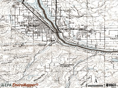 South Wenatchee topographic map