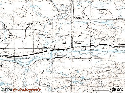 Sultan topographic map