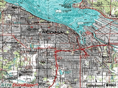 Tacoma topographic map