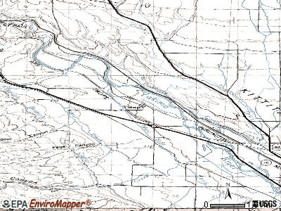 Thorp topographic map