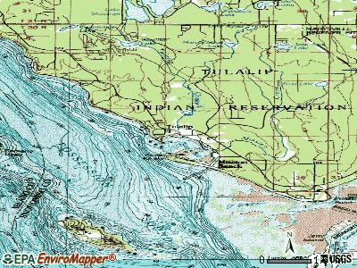 Tulalip Bay topographic map