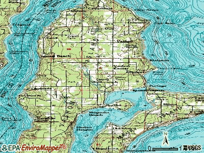 Vashon topographic map