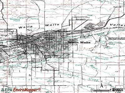Walla Walla East topographic map