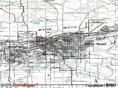 Waller topographic map